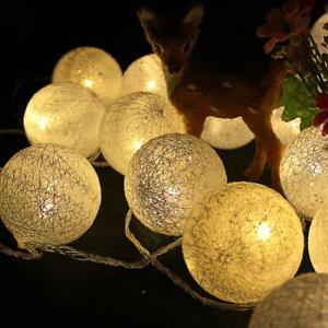 Gold Fleck 5cm Ball LED Night String Light Birthday Room Party Event AUS Plug