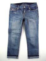 Inc Denim Womens Size 8 Capri Jeans Crops Rhinestone Bling Embellished Stretch