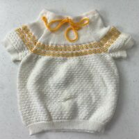 Vintage 1960s Infant Toddler Sweater Short Sleeve Excellent Condition