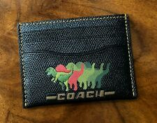 Rare NWT Coach Ltd. Edition REXY THE COACH DINO Leather Mini Wallet Card Case
