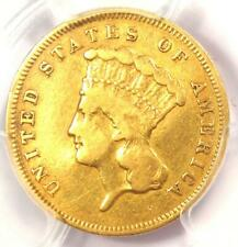 1856-S Three Dollar Indian Gold Coin $3 - Certified PCGS VF Details - Rare Date!
