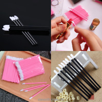10/50pcs Disposable Lip Lipstick Gloss Wands Brush Applicator Makeup Tool New