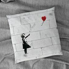 """Banksy Heart Balloon Design 18"""" x 18"""" Cushion"""