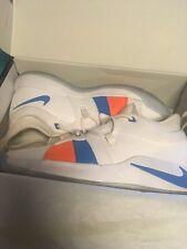 New Nike PG2 Paul George White Blue Orange Shoes sz 10