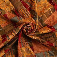 Terre cuite patchwork tapisserie double épaisseur chenille marocain recouvert de tissu
