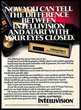 1982 Mattel Electronics Intellivision Intellivoice Module Vintage PRINT AD 1980s