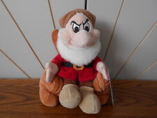 GRUMPY IN A ROCKING CHAIR beanie soft toy SNOW WHITE Disney Store DWARF/DWARFS