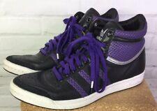 Adidas Womens Girls 5.5 Top Ten Hi Sleek Series Purple Black Sneakers G16705