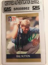 Hal Sutton - 1990 Proset Autographed PGA Golf card # 49  Tour card CAS Certified