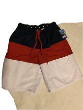Beverly Hills Polo Club American Flag Swimming Trunks Men Medium