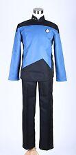 Star Trek Blue TNG The Next Generation Uniform Set Cosplay Costume Custom Made