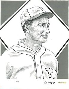 T.S. O'Connell Original Artwork - Pen-and-Ink from Mini-Prints - Ty Cobb