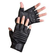 PU Leather Drive Bike Fitness Half Finger Gloves Finger Less Breathable WE9X