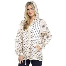 Womens Rain Mac Lightweight Showerproof Hooded Festival Raincoat Kagool In A Bag
