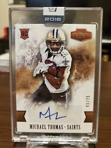 2016 Honors Michael Thomas Rookie Auto Sealed /75 New Orleans Saints