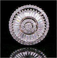Cubic Baguette & Round Zirconia Circle Wedding Elegant Ring 1212 0RC 75