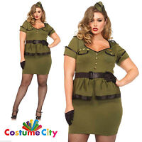 Adult Ladies Womens Commander Cutie Sexy Army Soldier Fancy Dress Party Costume