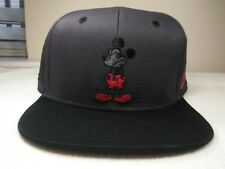 NEW NEFF Disney-Mickey Mouse-Dark Gray Hat Snapback Adjustable Cap One Size!!
