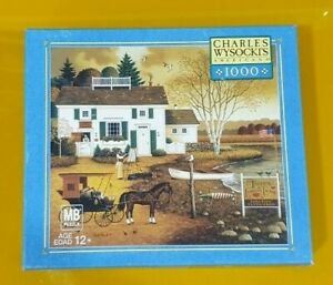 Charles Wysocki 1000 pc jigsaw puzzle, The Birch Point Cove, MB Puzzle