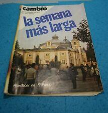 REVISTA PERIODICO ESPAÑOL  CAMB16 1975 LA SEMANA MAS LARGA  ATARDECEREN EL PRADO