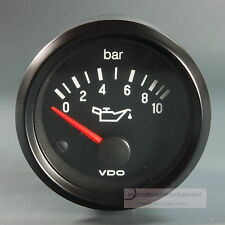 VDO OELDRUCK INSTRUMENT 10 bar GAUGE 24V  52mm Cockpit international classic sw.