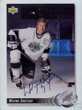 Wayne Gretzky Edmonton Oilers SIGNED UD 8.5x11 Card COA
