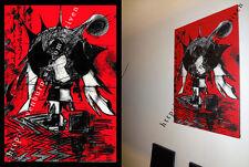 11 Abstracto Rojo Negro Cuadro 60x90 cm Lienzo Digital. Dibujo Arte Decoracion