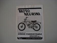 advertising Pubblicità 1971 NEGRINI CROSS FUORISTRADA