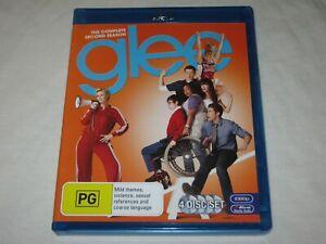 Glee - Complete Season 2 - 4 Disc Set - VGC - Region B - Blu Ray