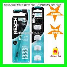 SALE Listerine Reach Access Daily Flosser Starter Pack+ Refill Pack Dental Floss