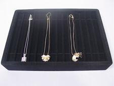 13l X 9w Black Velvet Bracelet Necklace Watch Chain Display Tray Case Pt4 14b1