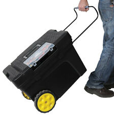 Stanley 24 in Portable Mobile Rolling Wheeled Storage Cart Lockin Tool Chest Box
