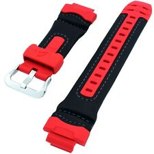 Original Casio Watch Strap Band for AW-591RL-4A AW591RL-4A  AW-590RL Black/Red