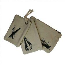 Hessian cosmetics bag/travel bag/wash bag - 3 bag set. Handmade