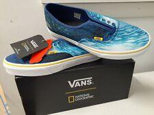 VANS  National Geographic Original Sneakers - Ocean / True Blue Size 9.5