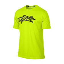 NIKE Challenger Road Rat Dri-FIT T-Shirt sz L Large Cyber Green Running Max NEW