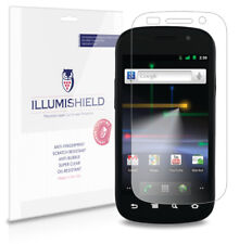 iLLumiShield Phone Screen Protector w Anti-Bubble/Print 3x for Google Nexus S 4G