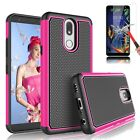 For LG K10 2018,K30,K40 Case Shockproof With Tempered Glass Screen Protector
