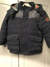 Ladybird Boys Coat With Tartan Lined Hood 4-5 Years School Coat