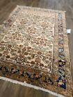 "Antique handwoven rug size 4'9""×6'  Lilihan design soft colors circa 1900s"