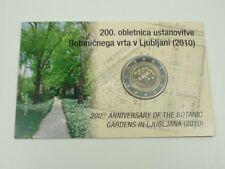 *** 2 EURO Gedenkmünze SLOWENIEN 2010 PP Botanischer Garten in Coincard KMS ***