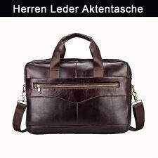 Herren Leder Tasche Business Handtasche Aktentasche Schultertasche Umhängetasche