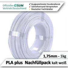 eSun PLA+ Filament Nachfüllpack 1.75mm, kalt weiß, für Leerspule, Topqualität