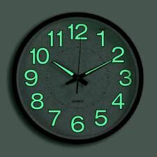 Wunderschöne Grüne LED Uhr Analog rund Wanduhr Quarzuhr Designuhr Rund DHL TOP
