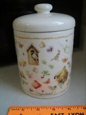Vintage Hallmark Marjolein Bastin Nature's Sketchbook Canister Small Cookie Jar