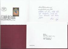 Christkindl Postdienst mit Widmung des Präsidenten 1990