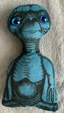 "Rare Vintage ET Extra Terrestrial Plush Doll Stuffed Collectible Blue 9"" E.T."