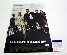 Matt Damon Signed Autograph Oceans Eleven 11 Movie Poster PSA/DNA COA B