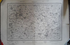 1911 sheet map of Banbury Oxfordshire