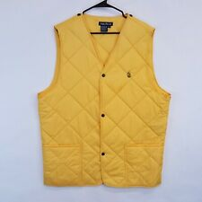 Vtg 90s Nautica Mens XL Quilted Puffer Snap Front Two Pockets Snap In Vest